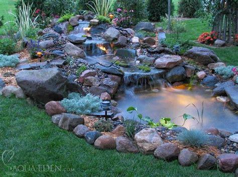 Small Backyard Pond And Waterfall