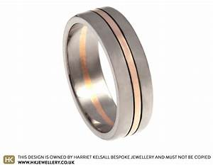 mixed metal 7mm flat profile wedding ring with engraved lines With gold and white gold mixed wedding rings