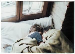 bed, couple, love, sleeping - image #117491 on Favim.com