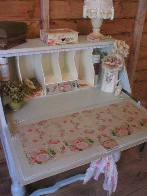 shabby chic bureau desk sold sold very shabby chic romantic duck egg bureau desk with paris roses