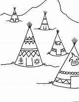 Teepee Thanksgiving Coloring Pages Drawing Printable Indian Indians Teepees Tipi Sheets Sheet Printables Crafts Drawings Preschool Colouring Craft Coloringpagesforkids Ws sketch template