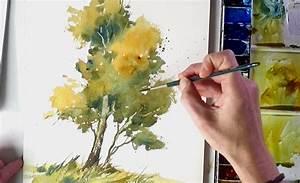 Malen Mit Wasserfarben : baum ganz einfach aquarellieren lernen 2 youtube ~ Orissabook.com Haus und Dekorationen