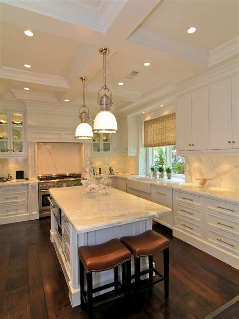 coffered ceiling kitchen traditional kitchen