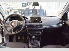 Fiat Tipo Hatchback interior dashboard at 2016 Bologna