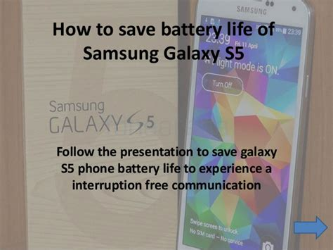 samsung galaxy s5 how to save battery
