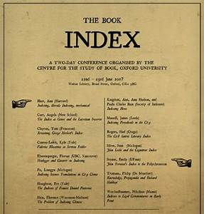 The Book Index conference – Paula Clarke Bain