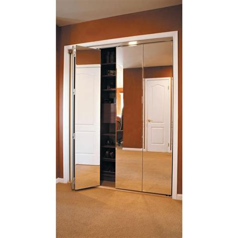 Mirror Folding Closet Doors by Impact Plus 30 In X 80 In Beveled Edge Mirror Solid