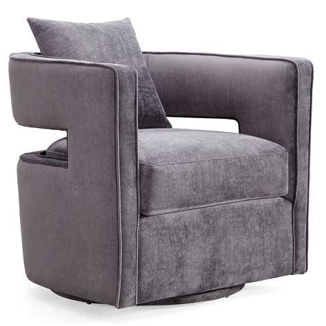 Modern Lounge Chairs   Katz Gray Swivel Chair   Eurway