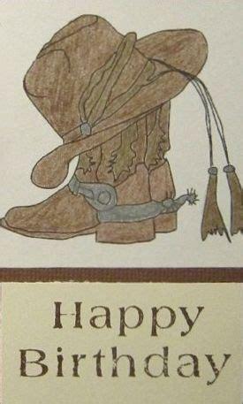 happy birthday man western hat boots custom happy
