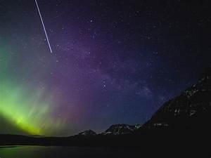 Aurora, Borealis, 4k, Wallpaper, Milky, Way, Purple, Sky, Night