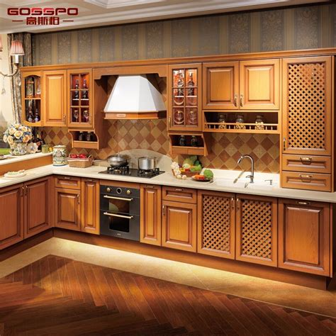 Wood Kitchen Furniture by China Holistic Kitchen Furniture Design Solid Teak Wood