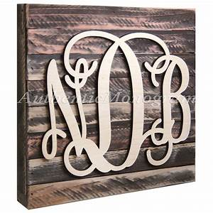 custom three letter wooden monogram with With 3 wooden letters