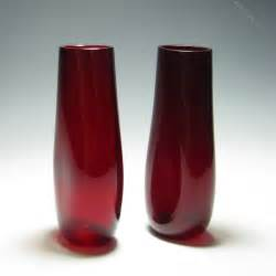 Whitefriars Glass Vase by Antiques Atlas Pair Of Whitefriars Ruby Glass Dimple