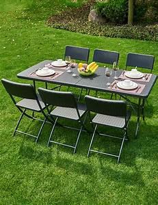 Table Pliante Avec Chaise : table pliante avec 6 chaises ~ Teatrodelosmanantiales.com Idées de Décoration