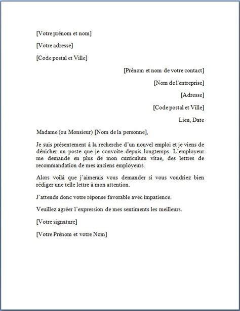 modele lettre de fin de collaboration faire une demande de lettre de recommandation lettre de