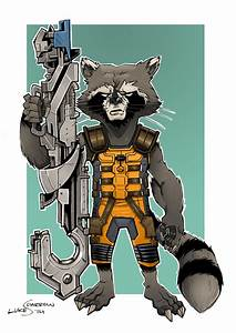 Rocket Raccoon by lukesparrow on DeviantArt