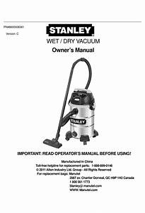 Stanley Wet    Dry Vacuum Owner U0026 39 S Manual Pdf Download