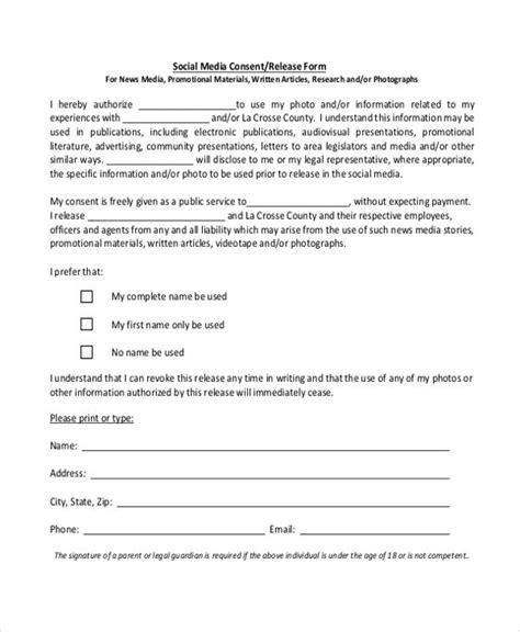 social media release form consent forms social media