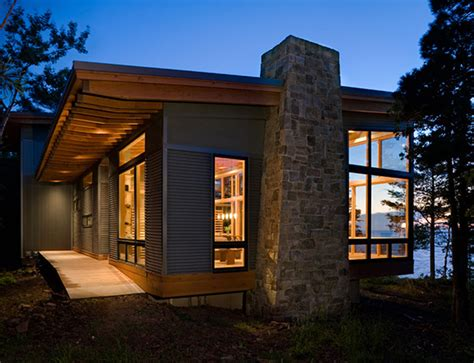 lake cabin design   amazing open concept layout