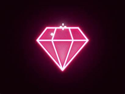 Diamond Gifs Neon Sparkle Diamonds Animation Graphic