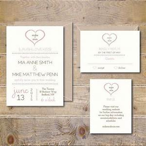 Printable wedding invitations diy wedding invitation invitations pdf jpeg simple heart for Diy printable wedding invitations