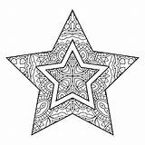 Coloring Stars sketch template
