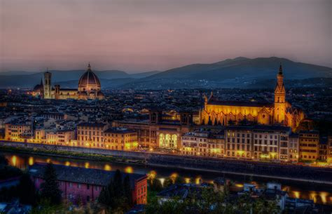 dusk  florence hd wallpaper beautiful colorful italy