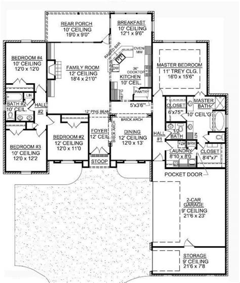 story french country   courtyard entry house plans floor plans home plans
