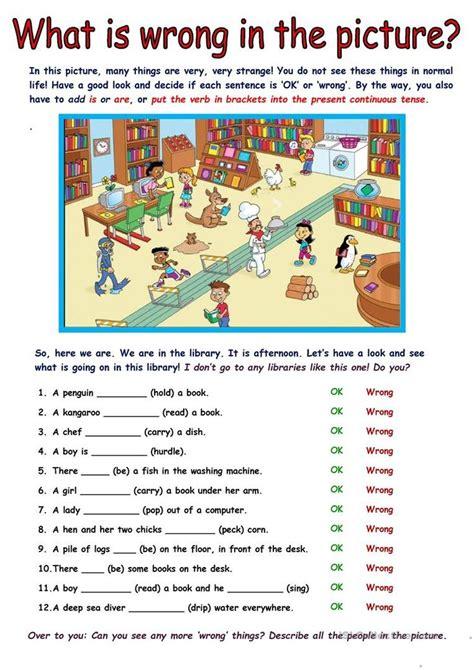 picture description exercise english esl worksheets