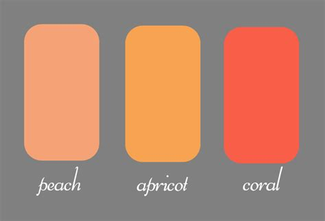 how to make the color coral what are differences between coral and apricot