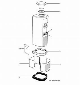 Ge Model Gxcf03e Water Dispenser Genuine Parts