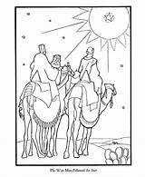 Coloring Pages Bible Wise Jesus Story Christmas Nativity Three Printables Birth Sheet Printable Camels Kings Sheets Christian Nazareth Foolish Psalm sketch template