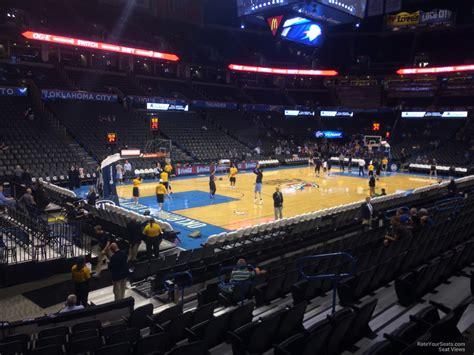 Chesapeake Energy Arena Section 108 - Oklahoma City ...