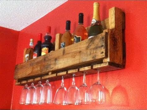how to make a wine rack out of a pallet wine bottle glass rack