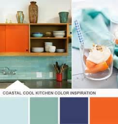 blue kitchen paint color ideas blue and orange kitchen color palette tuesday huesday hgtv design design happens