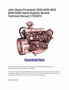 John Deere Powertech 3029 4039 4045 6059 6068 Diesel