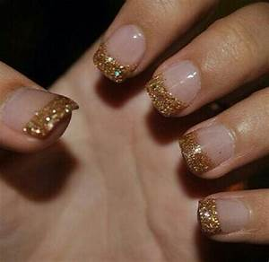 Gold tip nails | Nail Art! | Pinterest | Gold Tip Nails ...