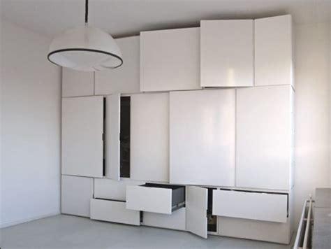 bedroom wall storage the minimalist witjes wall storage system
