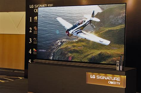 The LG Signature G6 4K OLED TV with Dolby Vision is