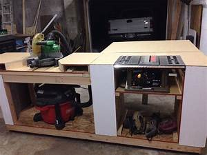 Ana White Miter saw and table saw station - DIY Projects