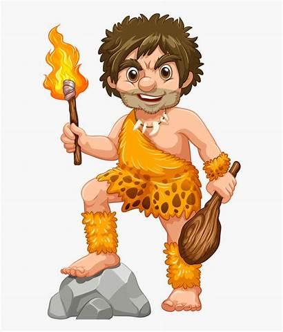 Caveman Mascot Clipart Prehistoric 2d Transparent Mascots