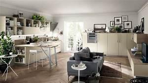 Küche Und Wohnzimmer In Einem Kleinen Raum : funktionelles wohnzimmer design in die tat umsetzen ~ Markanthonyermac.com Haus und Dekorationen