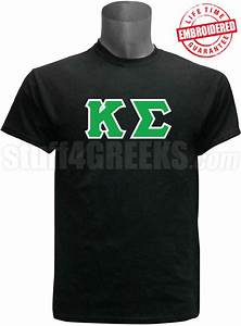 kappa sigma greek letter t shirt black embroidered with With kappa sigma stitched letters