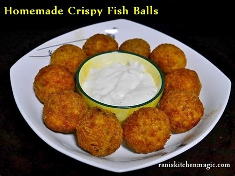 homemade crispy fish balls pan fried fish balls