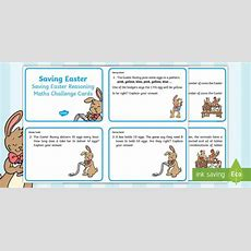 Year 2 Saving Easter Reasoning Maths Challenge Cards  Children's Books