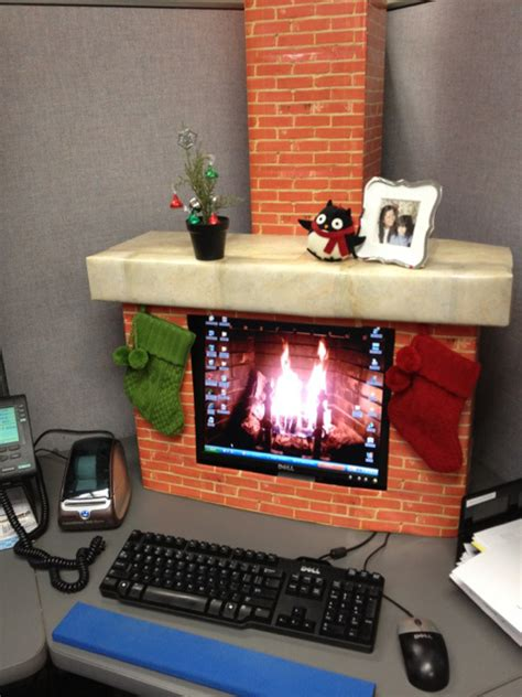 decorate your desk for christmas how to decorate your office cubical in pinterest joy