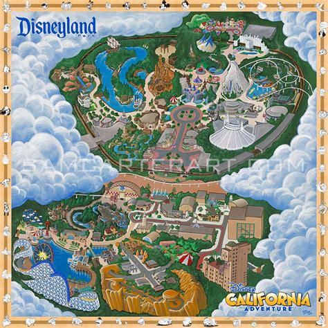 disneyland reasort map thread disneylandcalifornia