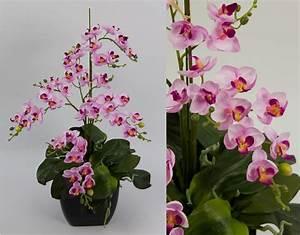 Künstliche Orchideen Im Topf : orchideen arrangement ii rosa pink im schwarzen dekotopf cg k nstliche orchidee ~ Watch28wear.com Haus und Dekorationen