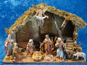 5 quot fontanini nativity scene 11 pc w 11 5 quot wooden stable 54490