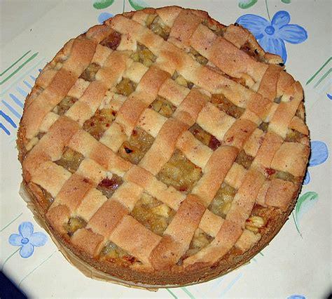 Apfel  Marzipankuchen Mit Gitter (rezept Mit Bild